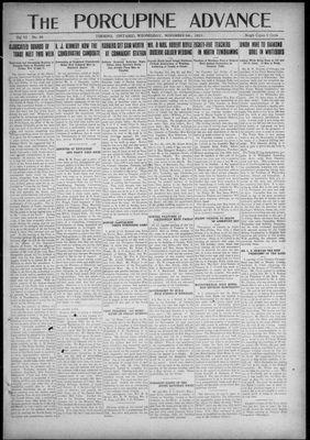 Porcupine Advance, 9 Nov 1921
