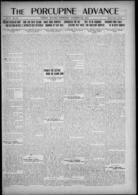 Porcupine Advance, 30 Nov 1921