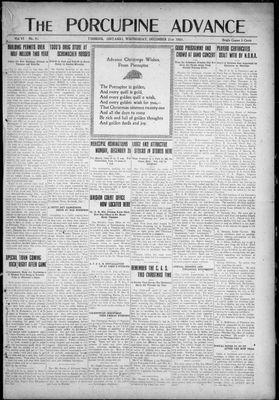 Porcupine Advance, 21 Dec 1921