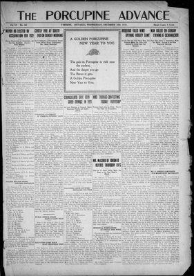 Porcupine Advance, 28 Dec 1921