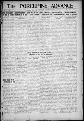 Porcupine Advance, 11 Jan 1922