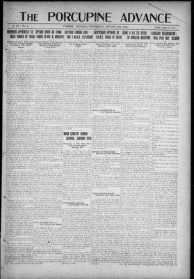 Porcupine Advance, 25 Jan 1922