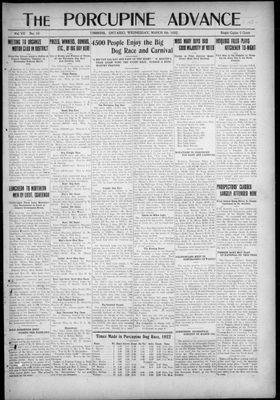 Porcupine Advance, 8 Mar 1922