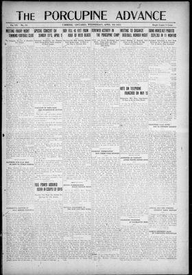 Porcupine Advance, 5 Apr 1922