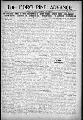 Porcupine Advance, 19 Apr 1922