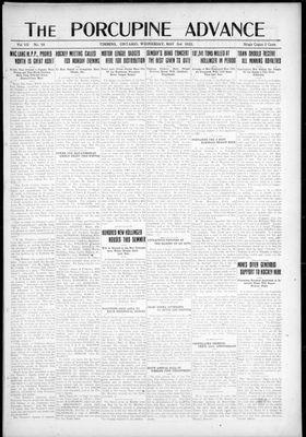 Porcupine Advance, 3 May 1922