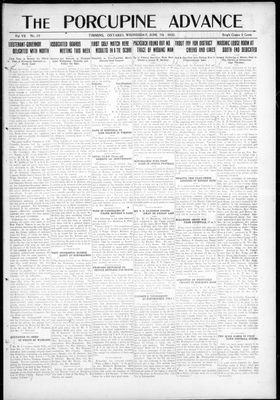 Porcupine Advance, 7 Jun 1922