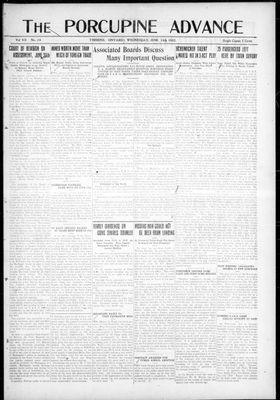 Porcupine Advance, 14 Jun 1922