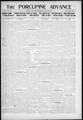 Porcupine Advance, 28 Jun 1922