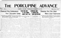 <i>Porcupine Advance</i> newspapers & indexes 1911-1950
