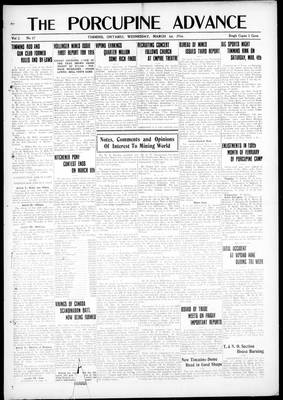 Porcupine Advance, 1 Mar 1916