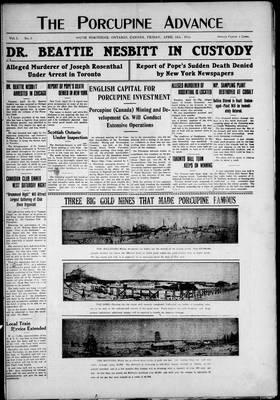 Porcupine Advance, 12 Apr 1912