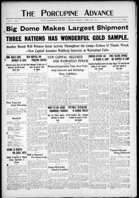 Porcupine Advance, 26 Apr 1912