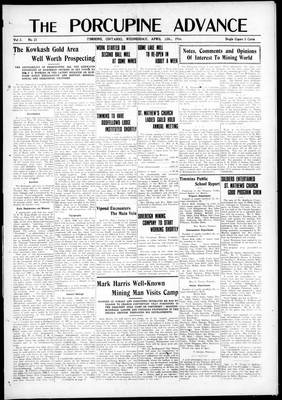 Porcupine Advance, 12 Apr 1916