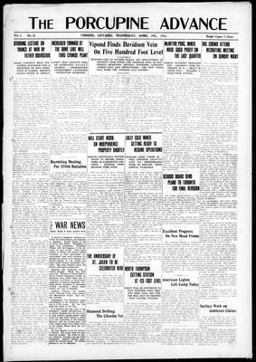 Porcupine Advance, 19 Apr 1916