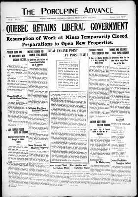 Porcupine Advance, 17 May 1912