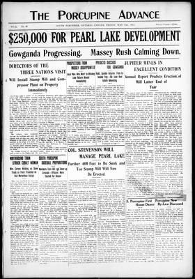 Porcupine Advance, 31 May 1912