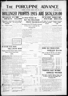 Porcupine Advance, 18 Jun 1915