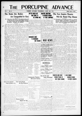 Porcupine Advance, 14 Jun 1916
