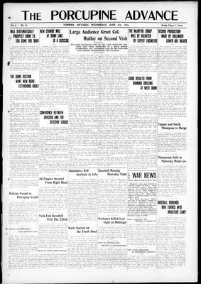 Porcupine Advance, 21 Jun 1916