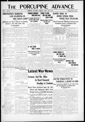 Porcupine Advance, 16 Jul 1915