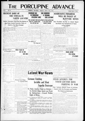 Porcupine Advance, 23 Jul 1915