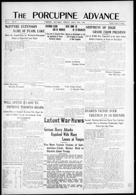 Porcupine Advance, 30 Jul 1915