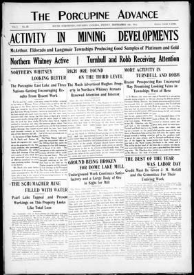 Porcupine Advance, 6 Sep 1912