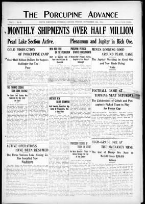 Porcupine Advance, 13 Sep 1912