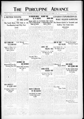 Porcupine Advance, 20 Sep 1912