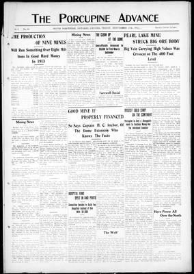 Porcupine Advance, 27 Sep 1912