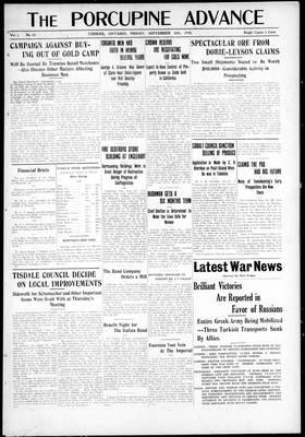 Porcupine Advance, 24 Sep 1915