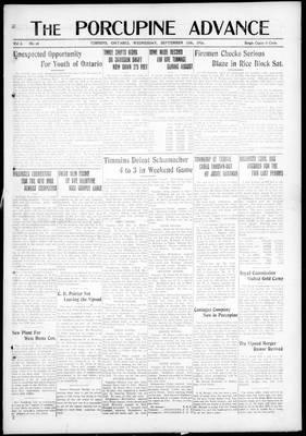 Porcupine Advance, 13 Sep 1916