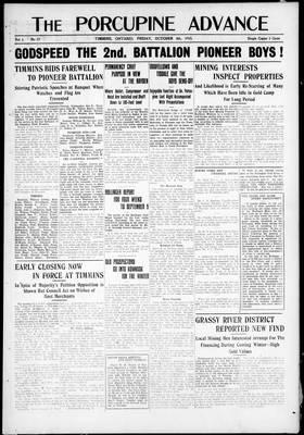 Porcupine Advance, 8 Oct 1915