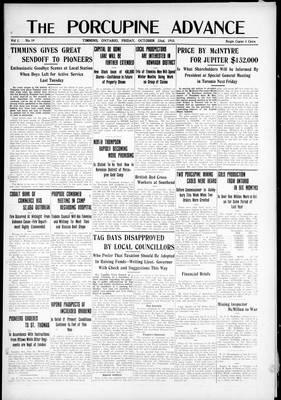 Porcupine Advance, 22 Oct 1915