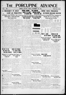 Porcupine Advance, 12 Nov 1915