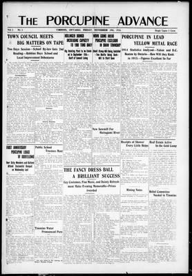 Porcupine Advance, 19 Nov 1915