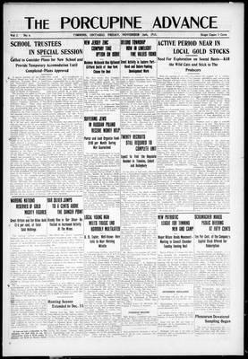 Porcupine Advance, 26 Nov 1915