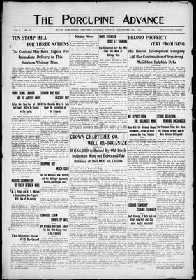 Porcupine Advance, 6 Dec 1912