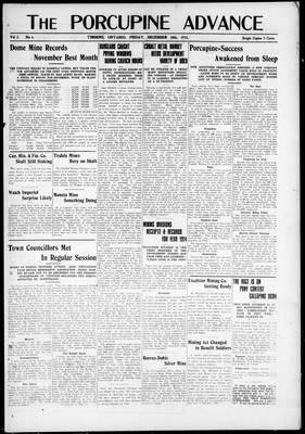 Porcupine Advance, 10 Dec 1915