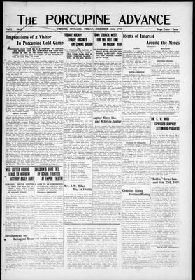 Porcupine Advance, 24 Dec 1915