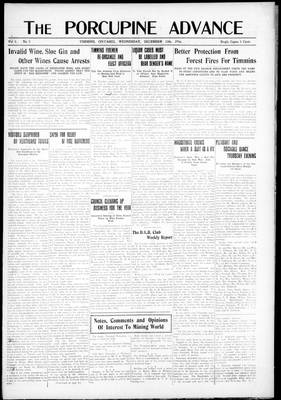 Porcupine Advance, 13 Dec 1916