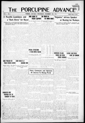 Porcupine Advance, 20 Dec 1916