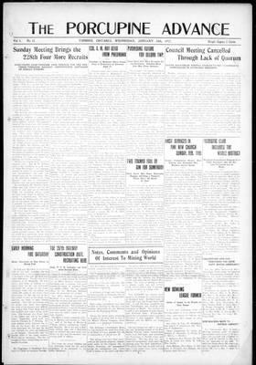 Porcupine Advance, 24 Jan 1917