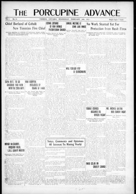 Porcupine Advance, 14 Feb 1917
