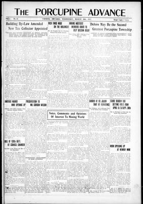 Porcupine Advance, 28 Mar 1917