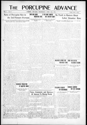 Porcupine Advance, 25 Apr 1917