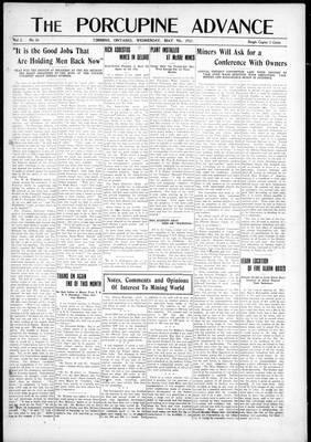 Porcupine Advance, 9 May 1917