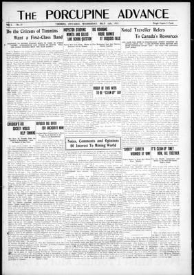 Porcupine Advance, 16 May 1917