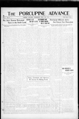 Porcupine Advance, 30 May 1917
